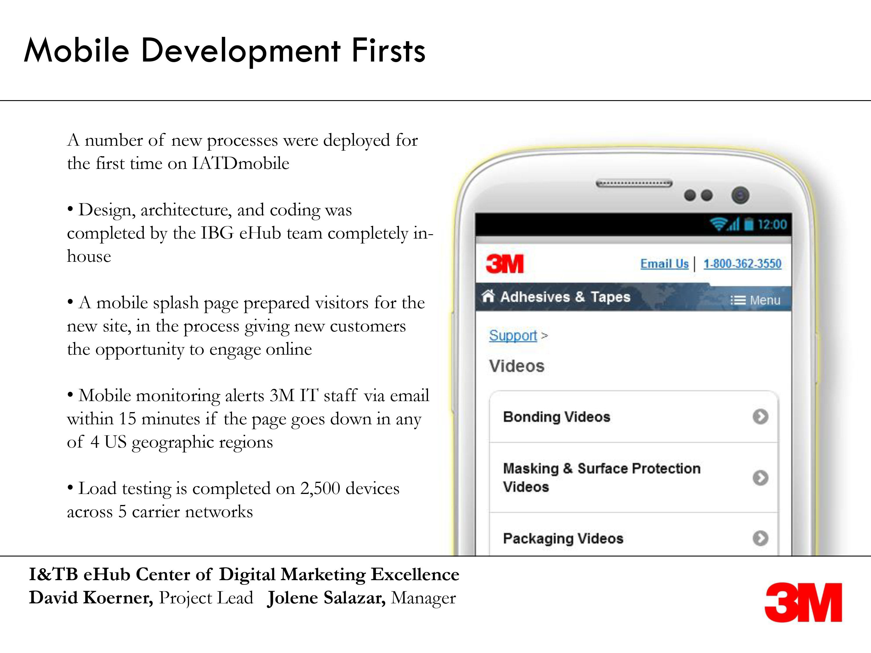 mobile firsts by David Koerner at 3M