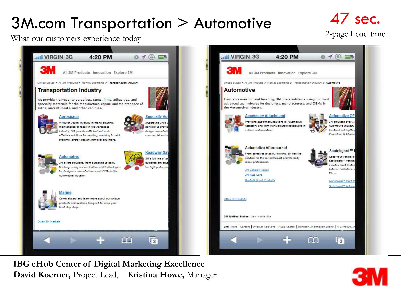 screenshot of mobile site navigation