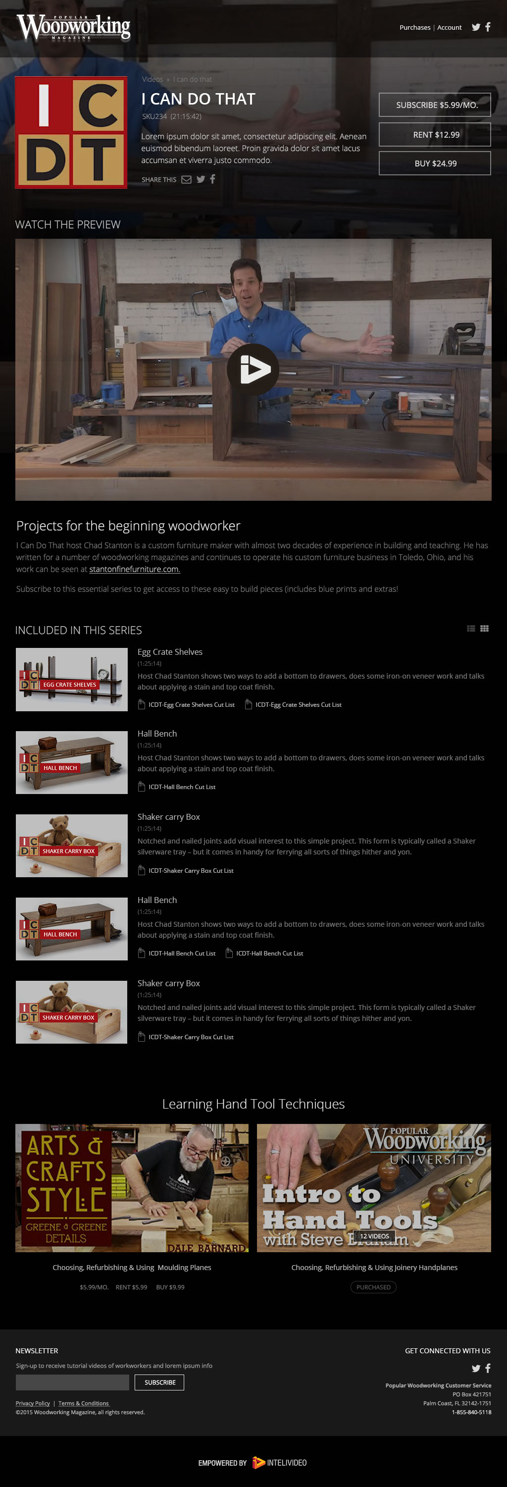 sample UX/UI for woodworking cliente